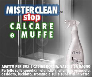 Mister Clean Prodotto per la pulizia dei box doccia contro calcare e muffe