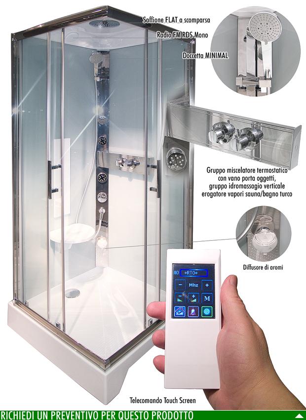 Anatomia di una cabina doccia arredobagno news - Box doccia con sauna e bagno turco ...