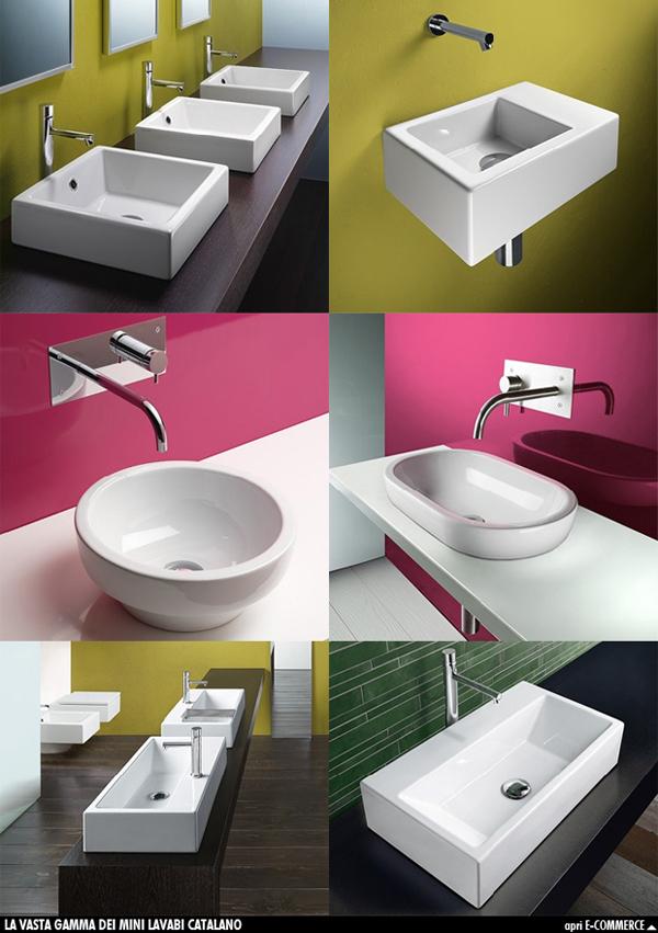Lavabo da appoggio piccole dimensioni boiserie in ceramica per bagno - Bagno piccole dimensioni ...