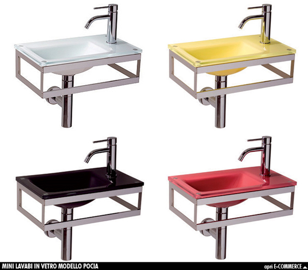 L 39 utilit dei mini lavabi arredobagno news - Lavandino in vetro bagno ...