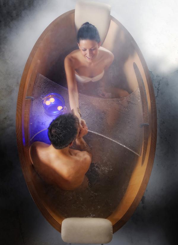 Desiderio una vasca in legno per sognare arredobagno news - Sognare vasca da bagno ...