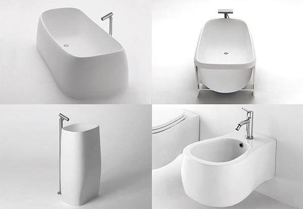 Agape pear vasca da bagno design by patricia urquiola for Produttori sanitari bagno