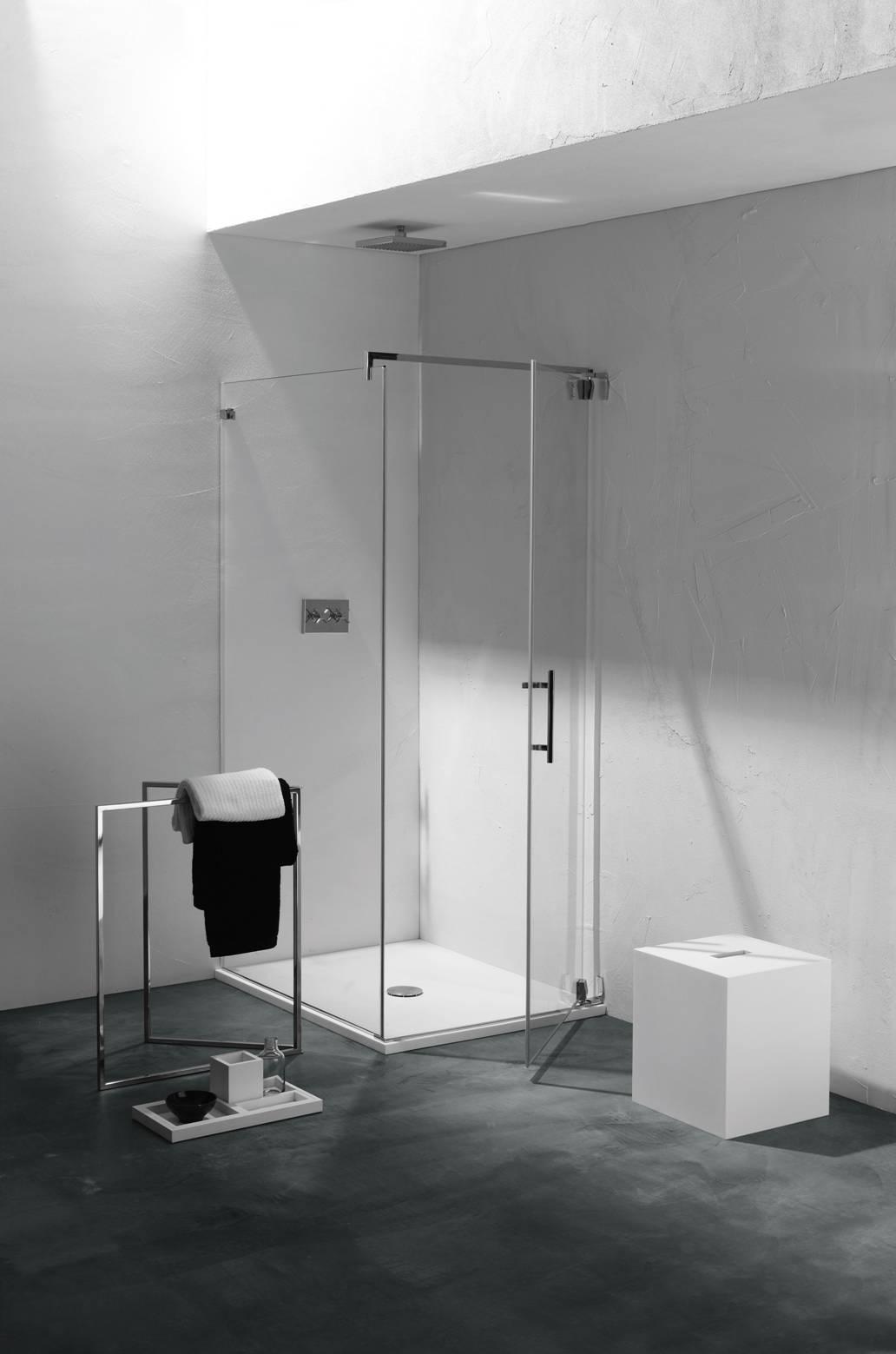 Just la cabina doccia senza profili arredobagno news - Doccia senza porta ...