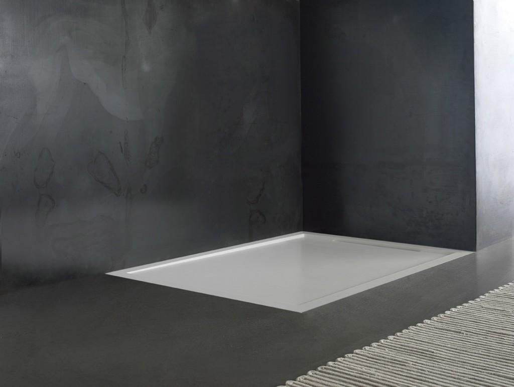 Flow il nuovo piatto doccia in corian realizzabile su - Piatti doccia particolari ...