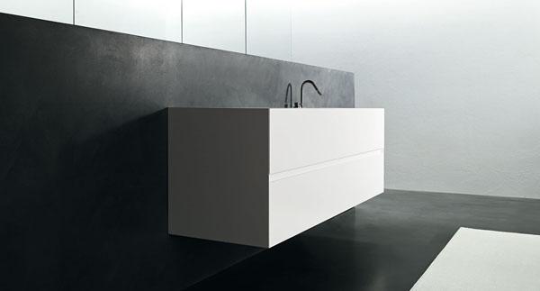 verve / bathroom - bianco assoluto e stile essenziale ... - Arredo Bagno Corian