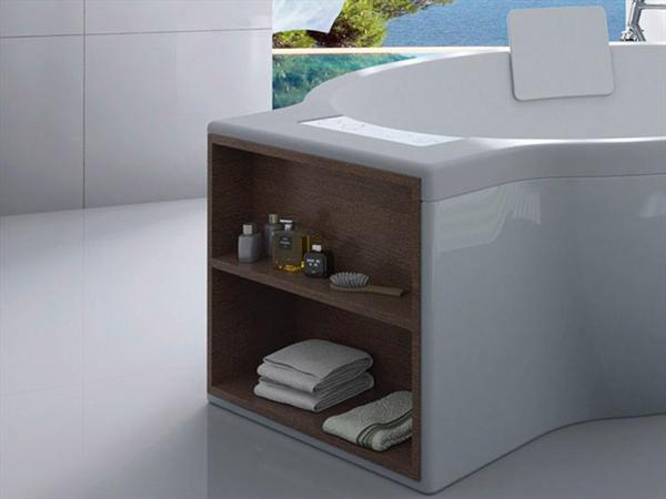 CIRCULAR - Vasca da bagno free-standing con vano portaoggetti
