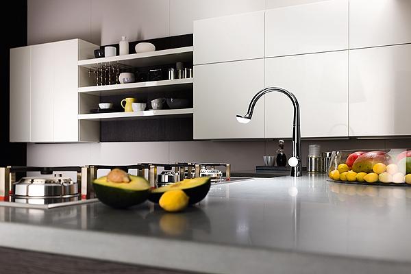 E luce fu in cucina con nobili rubinetterie arredobagno news - Rubinetto per lavello cucina ...