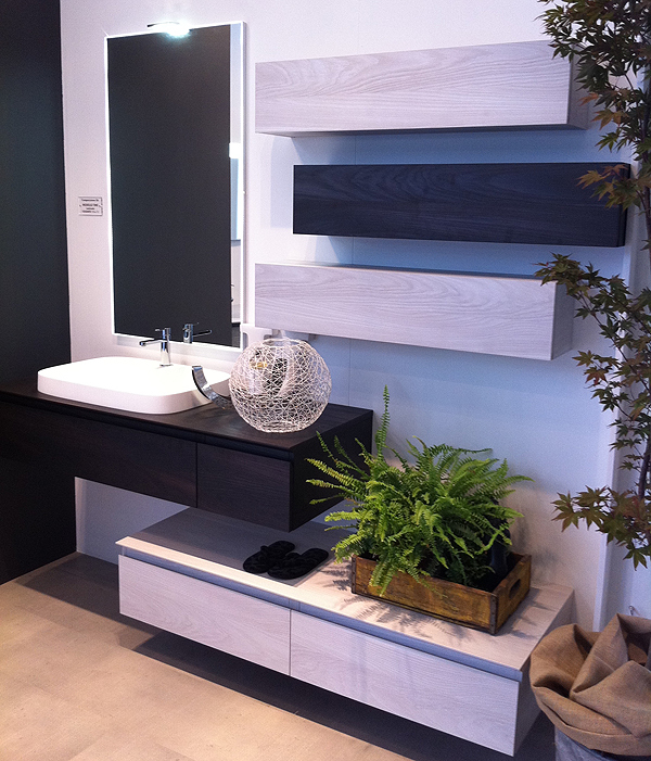 Mobile Bagno Puntotre Serie Time Colonne Sospese Pictures to pin on Pinterest