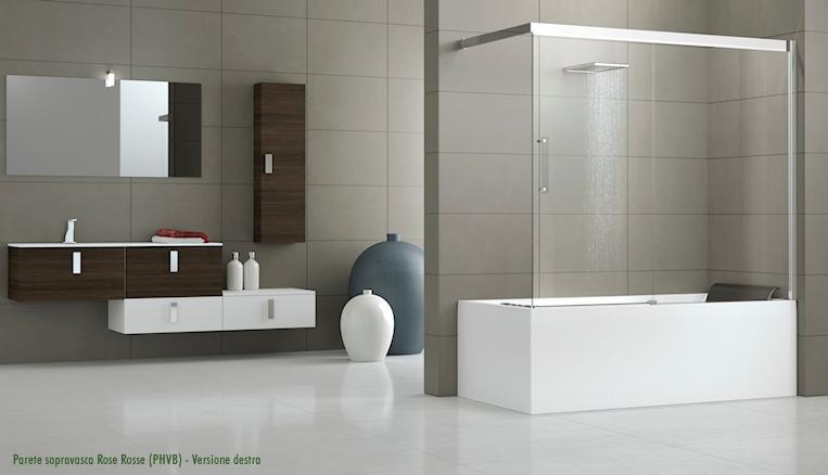 Pareti Vetro Vasca Da Bagno ~ Ispirazione Interior Design & Idee Mobili