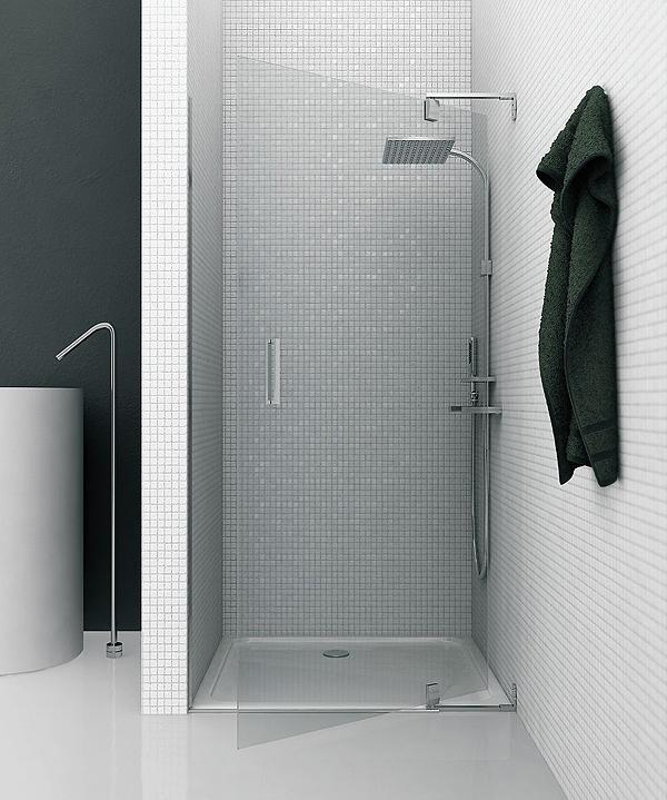 Gal presenta pivot il box doccia su misura con apertura a bilico arredobagno news - Cabine doccia su misura ...
