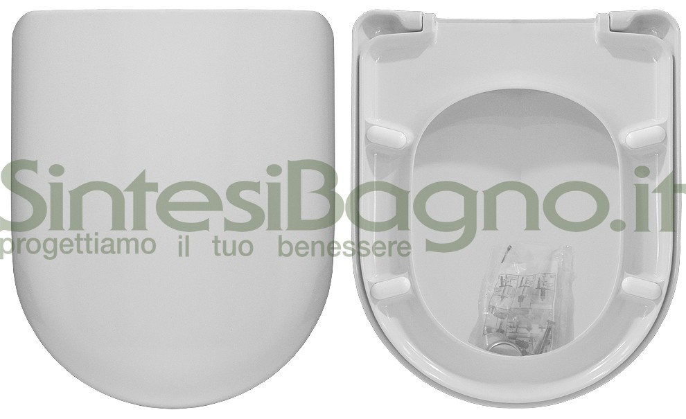 Toilet seat>ORIGINAL>for POZZI GINORI toilet bowl>YDRA model> Colour WHITE> DUROLUX> stainless steel hinges> Wrap-around cover | Toilet seat made of Durolux, thermoset of superior quality! The shape of this toilet seat is identical to the original and, like the original, is made of a thermosetting material, but of better quality, so that it has the following features: -fire resistant (certified according to the regulations FAR 25.853 and ABD001) - scratch-resistant, shining and durable surface / easy to clean / long lasting colour