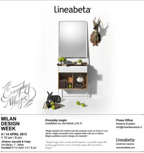 EVERYDAY MAGIC installation by JVLT / JoeVelluto // Come and see us at Milan Design Week by JVstore, via Melzo 7