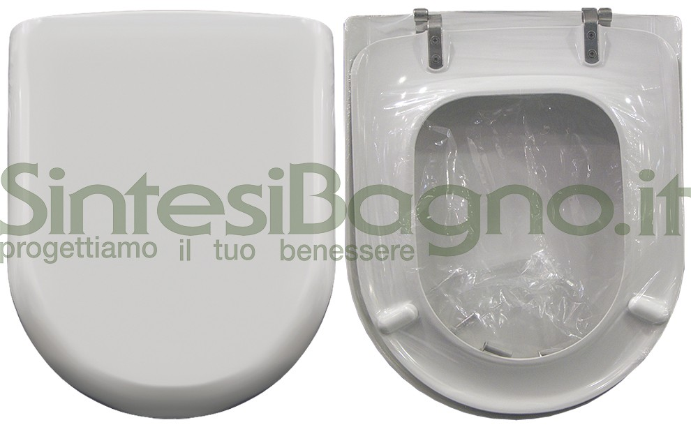 Toilet seat>ORIGINAL>For POZZI GINORI toilet bowl>YDRA model> Colour WHITE>Toilet seat made of thermosetting resin>Wrap-around cover