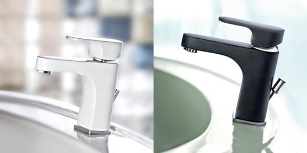 Una scelta optical bianco e nero per i miscelatori monocomando H2omix 1000 di Gattoni Rubinetteria: la bellezza dell'essenzialità ad un prezzo contenuto design: Gattoni Technical Departmnet