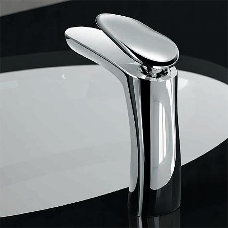 Miscelatore lavabo al piano, misura M / Open 93 | chrome