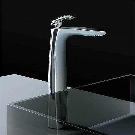 Miscelatore lavabo al piano per catino, misura XL /  Synergy Open 93 | chrome