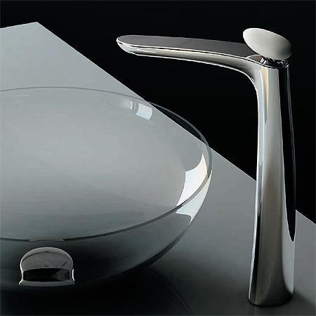 Miscelatore lavabo al piano per catino, misura XXL, maniglia in Corian® | Synergy Stone 95
