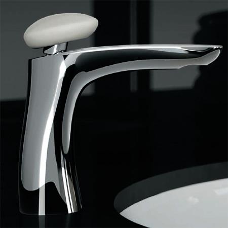 Miscelatore lavabo al piano, misura M, maniglia in Corian®
