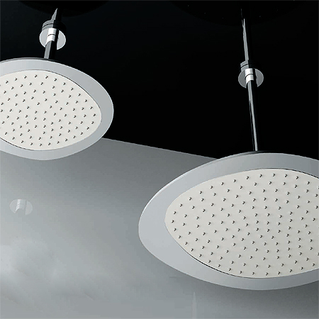 Soffione doccia a soffitto, con parte interna in Corian®