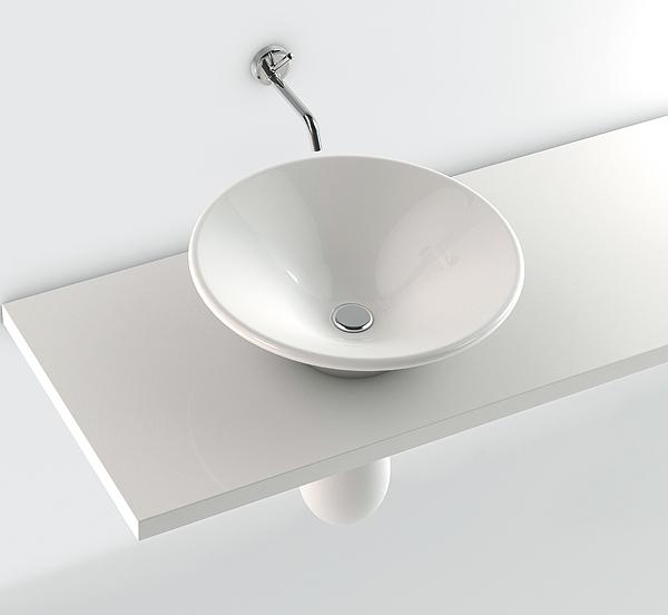 lavabo stile fonte con semicolonna