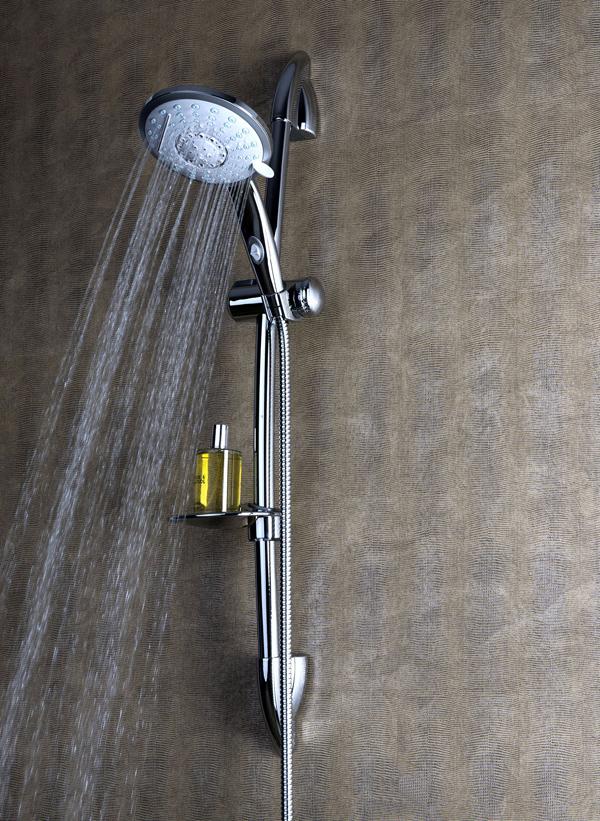 Set saliscendi cascade di damast la doccia che si adatta for Saliscendi per doccia