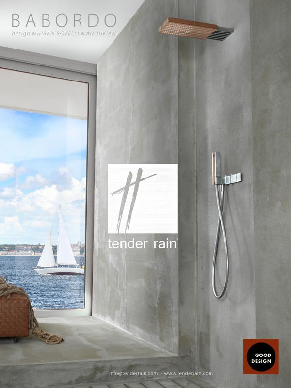 TENDER RAIN - SOFFIONE DOCCIA BABORDO - VINCE IL GOOD DESIGN AWARD