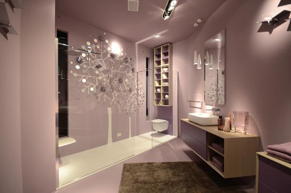 Stand INDA | Parete cristallo mobile bagno componibile