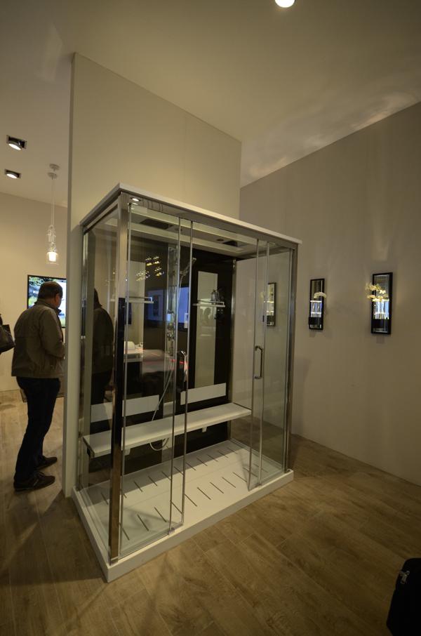 Stand NOVELLINI | Elysium cabina doccia NEXIS DUAL idromassaggio cromoterapia pannello vetro