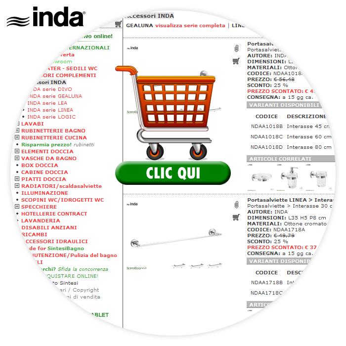 Accessori bagno INDA > Acquisti ONLINE