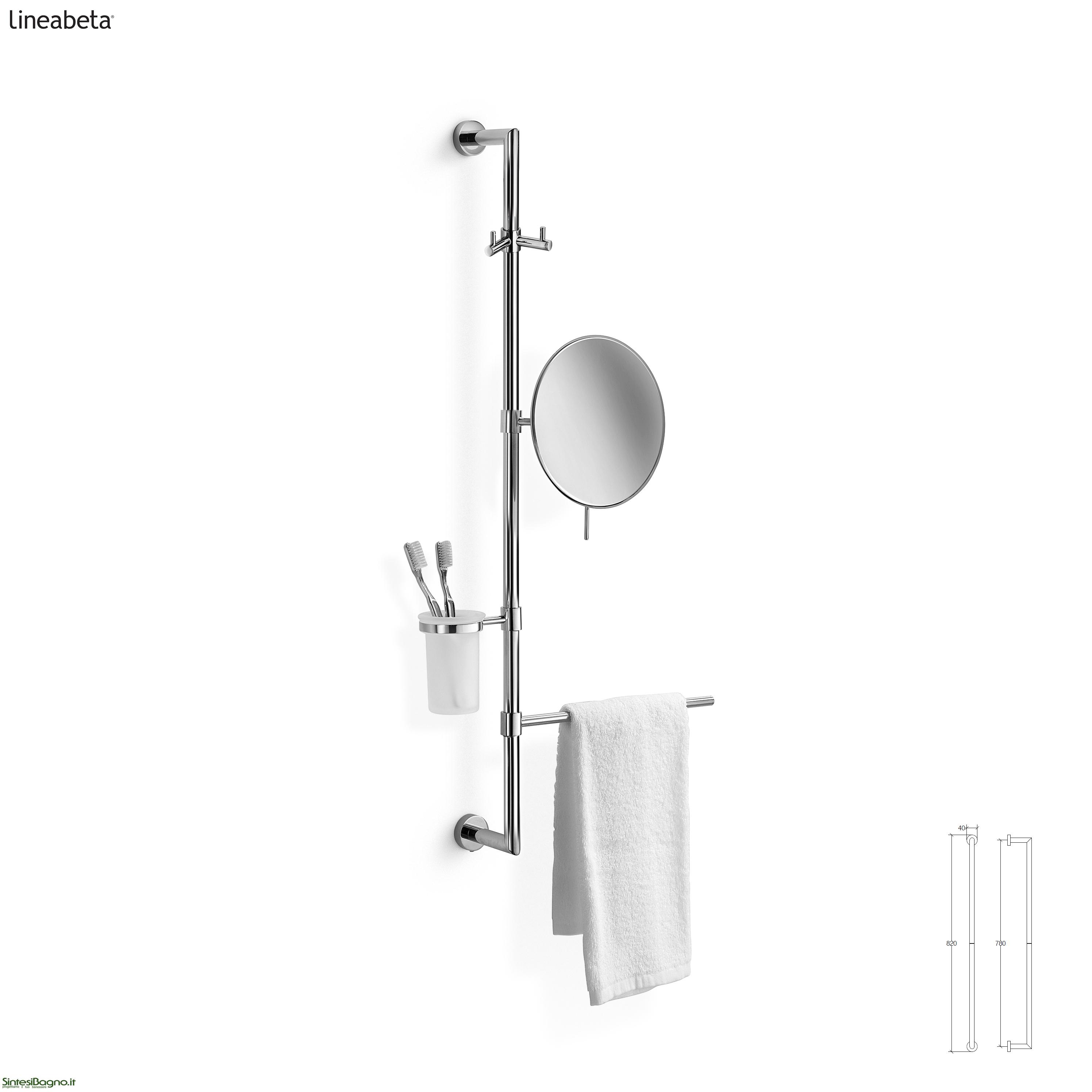 barre attrezzabili per accessori bagno - arredobagno news - Lineabeta Arredo Bagno