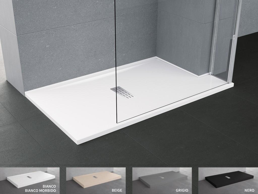 Piatto doccia novellini custom 12 cm installazione ad appoggio
