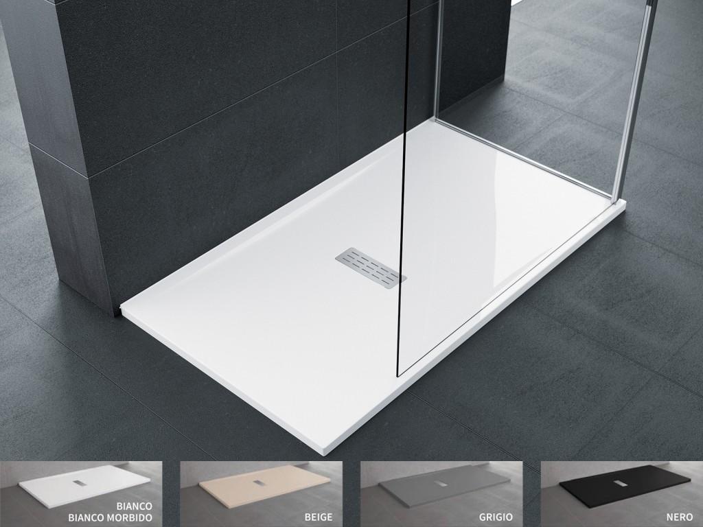 Piatto doccia novellini custom 3,5 cm installazione ad appoggio