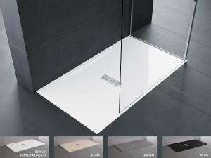 Piatto doccia novellini custom 3,5 cm installazione filo pavimento