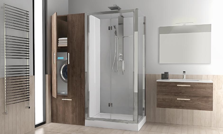 Trasforma la tua vasca in doccia con la soluzione revolution di novellini arredobagno news - Mobile bagno con lavatrice ...