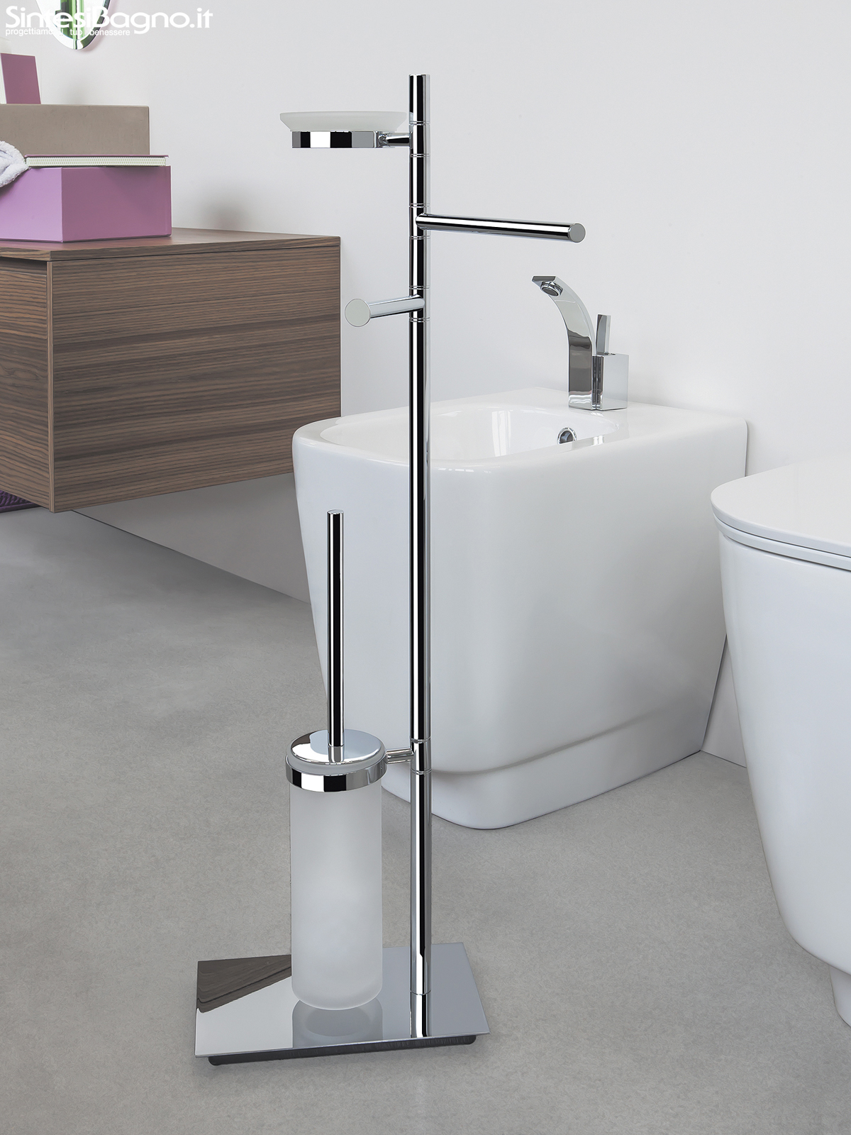 Piantane e colonne serie square di colombo design for Arredo bagno on line