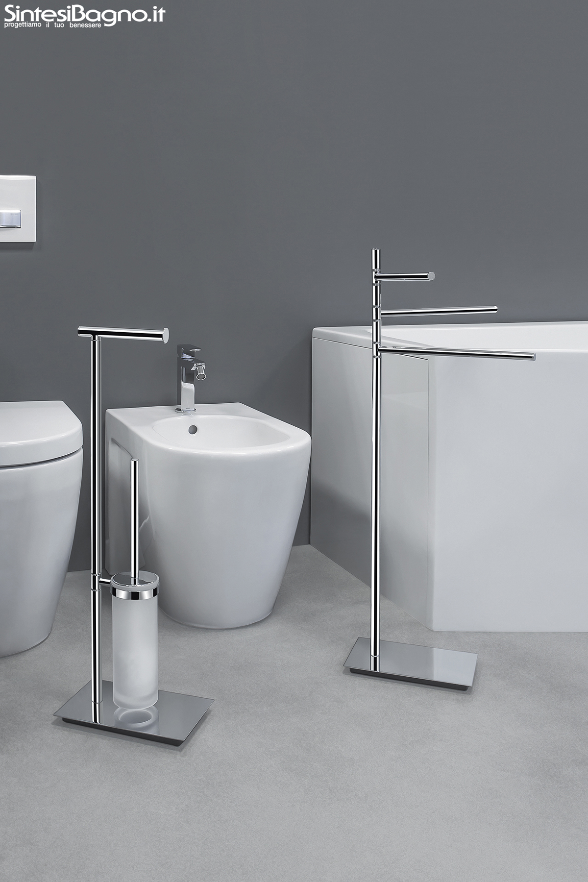 Piantane e colonne serie square di colombo design arredobagno news - Bagni on line ...