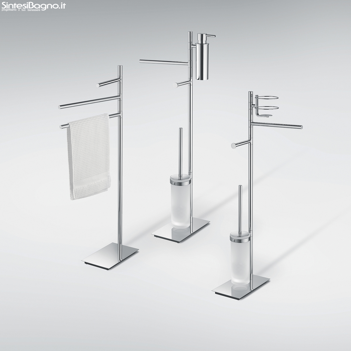 Piantane e colonne serie square di colombo design for Accessori bagno moderni