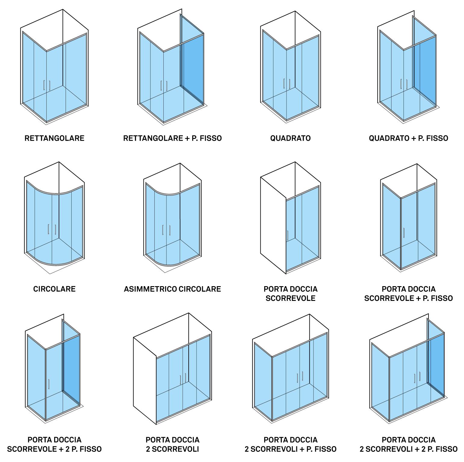 Configurazione box pareti doccia economici docciaviva linea hera