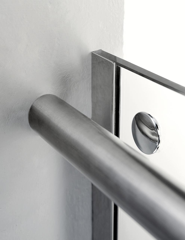 Porta Doccia LOOK con telaio in ACCIAIO INOX