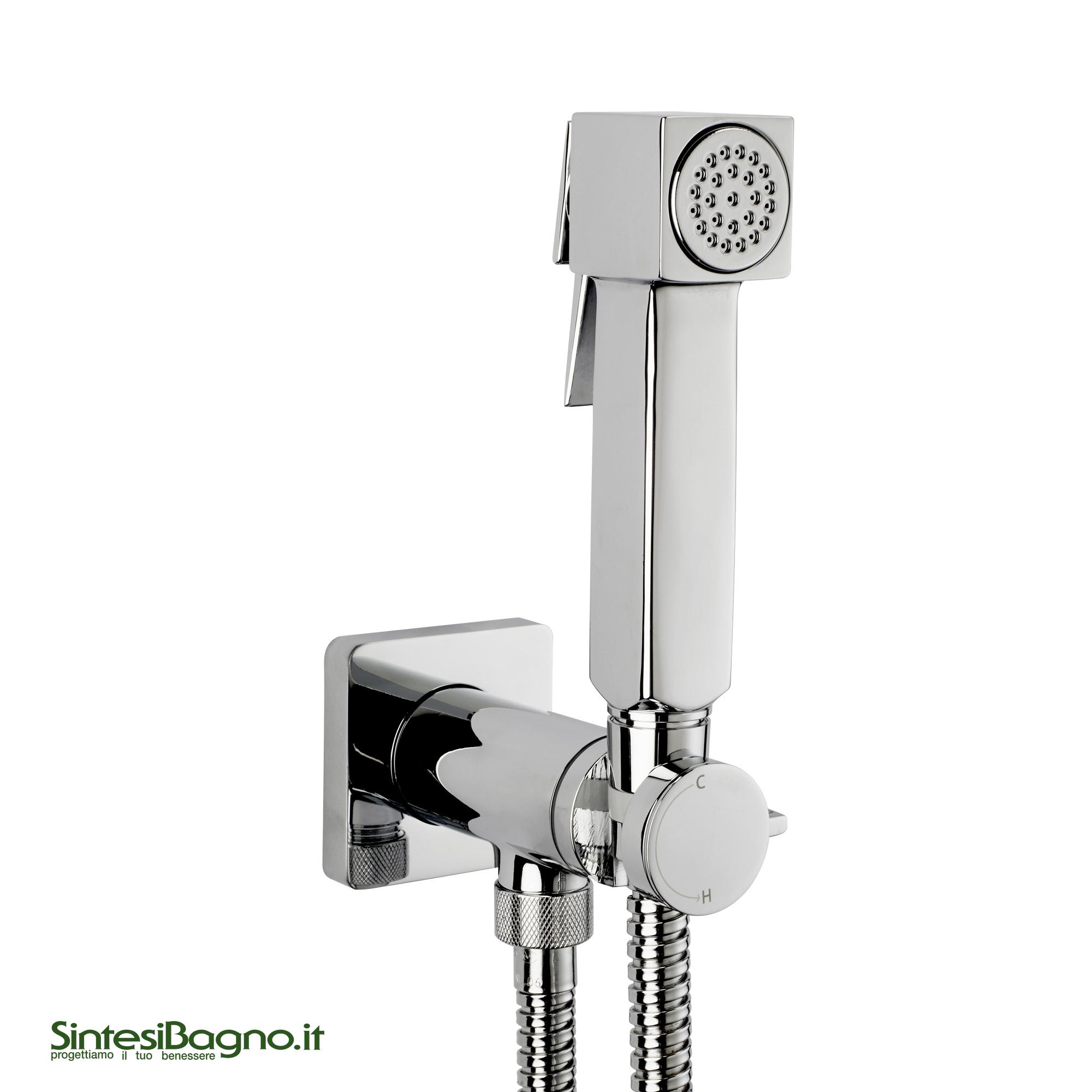 Kit miscelatore progressivo con doccia a pulsante