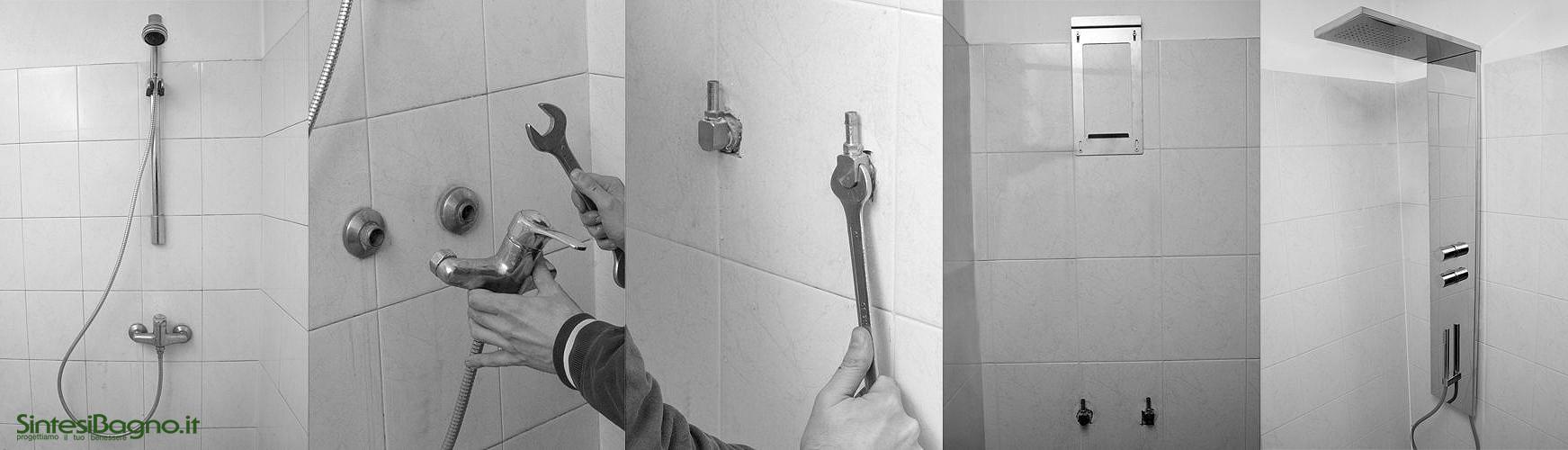 Sostituire l'impianto doccia senza intervento idraulico e di muratura
