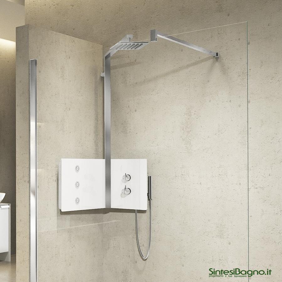 Colonna doccia attrezzata SINT installabile ad angolo