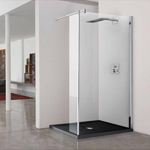 ... da bagno con una parete doccia in cristallo di spessore 8 mm o 6 mm