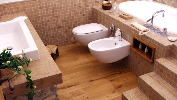 La pulizia della stanza da bagno i sanitari arredobagno - Finto mosaico bagno ...