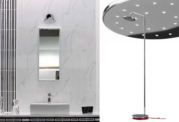Shower una doccia di luce un bagno di tecnologia arredobagno news - Illuminazione bagno leroy merlin ...