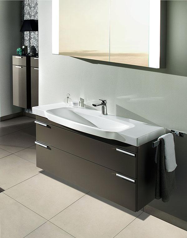 Villeroy boch nuovo look per la collezione sentique for Mobili bagno a terra