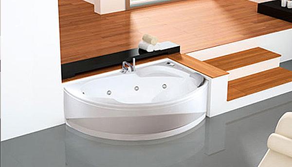 Prodotti novellini vogue vasca angolare asimmetrica - Vasche da bagno dolomite ...