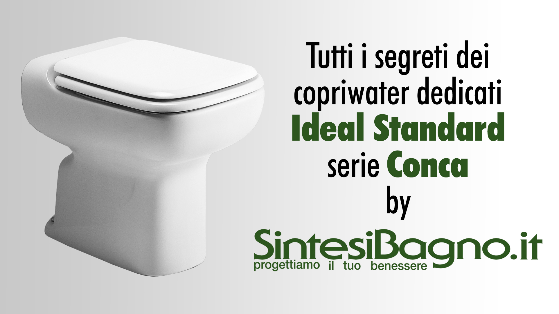 Copriwater archivi arredobagno news for Conca ideal standard