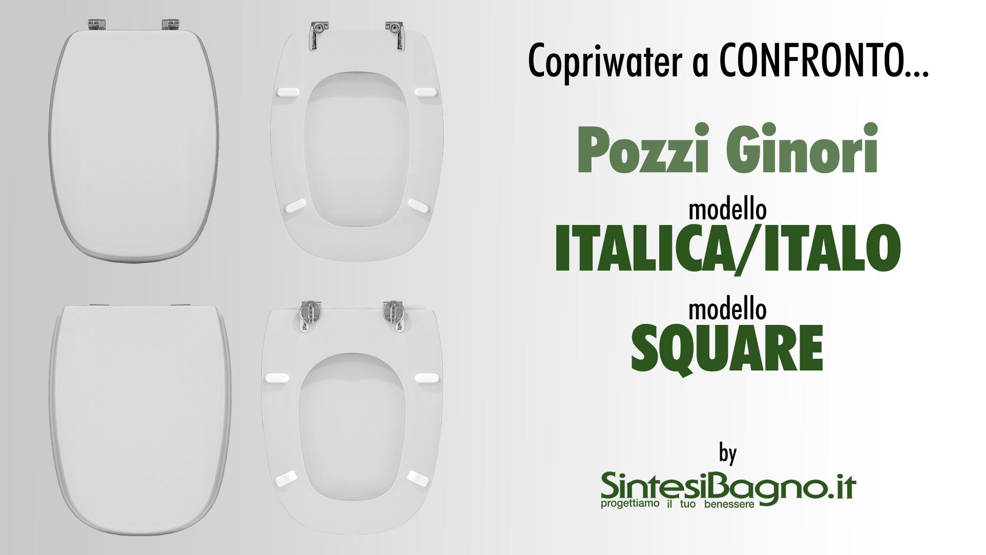 Copriwater POZZI GINORI ITALICA/ITALO e SQUARE
