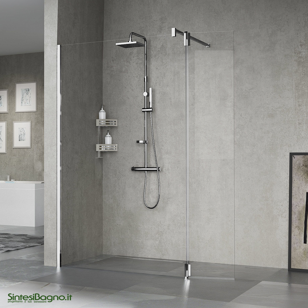 Colonna doccia attrezzata NOVELLINI serie EASY 2